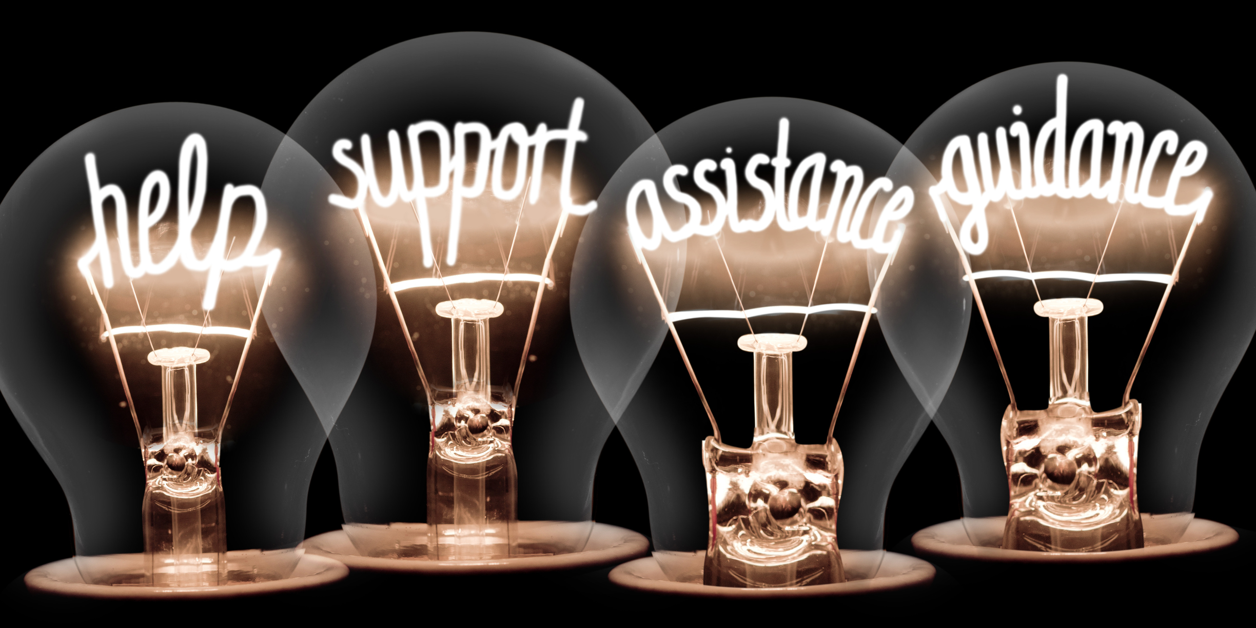 Light Bulbs - helo, support, assistance, guidance